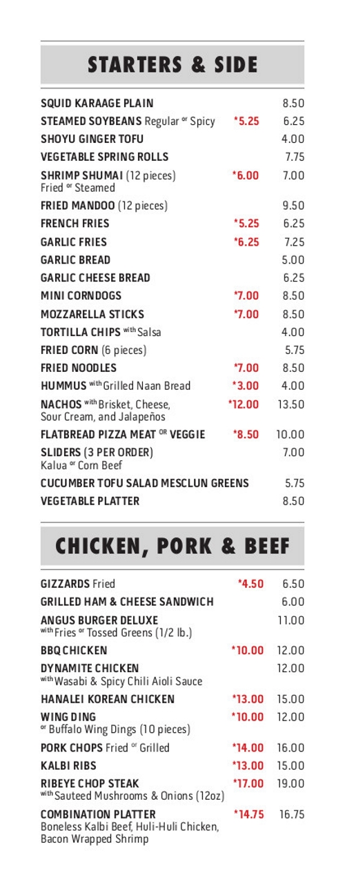 Chez 2018 Menu - 1 of 4